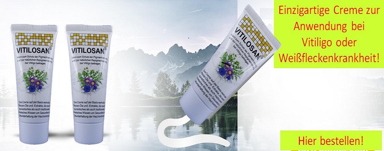 Die einzigartige Vitiligo-Creme
